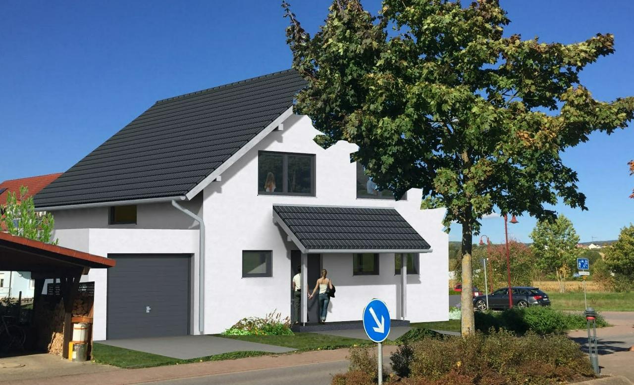 Model eines Einfamilienhauses in Mauer