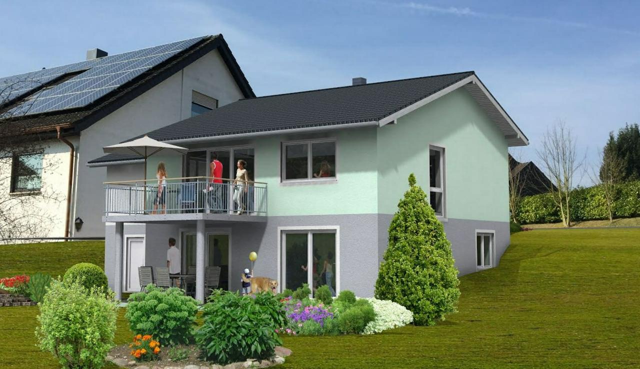 Model eines Einfamilienhauses in Neidenstein