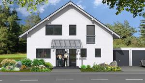 Bauvorhaben in Hassmersheim vordere Hausansicht